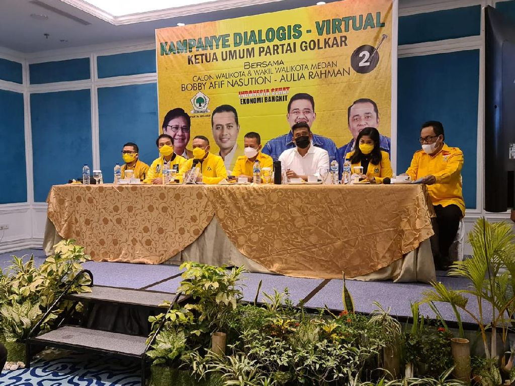 Elite Jurkamnas Golkar Turun Langsung Kampanye Bobby Nasution di Medan