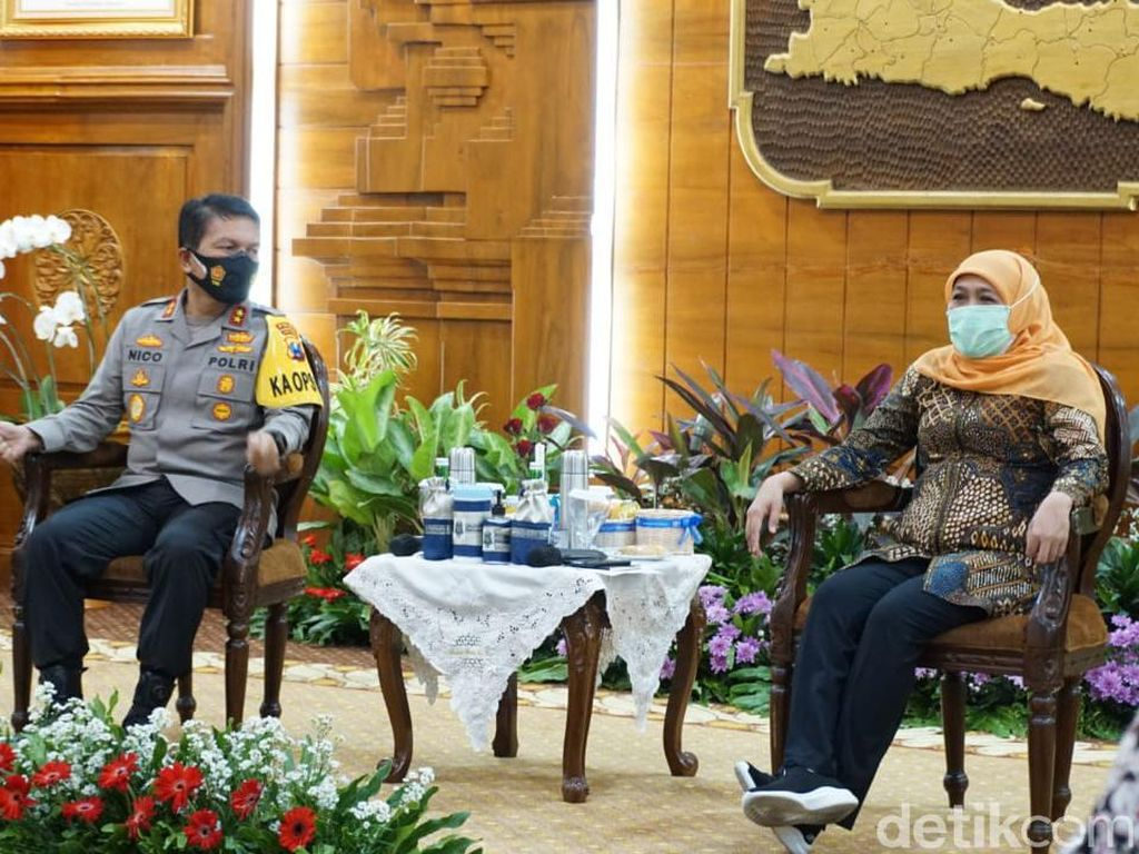 Kapolda Jatim yang Baru Silaturahmi ke Gubernur dan Pangdam V/Brawijaya