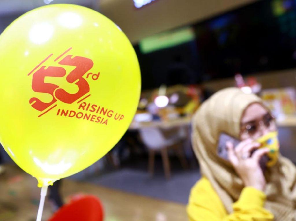 Momen Perayaan HUT ke-53 Indosat Ooredoo