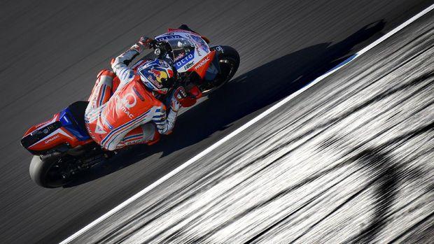 Jack Miller pada babak kualifikasi MotoGP Portugal 2020.