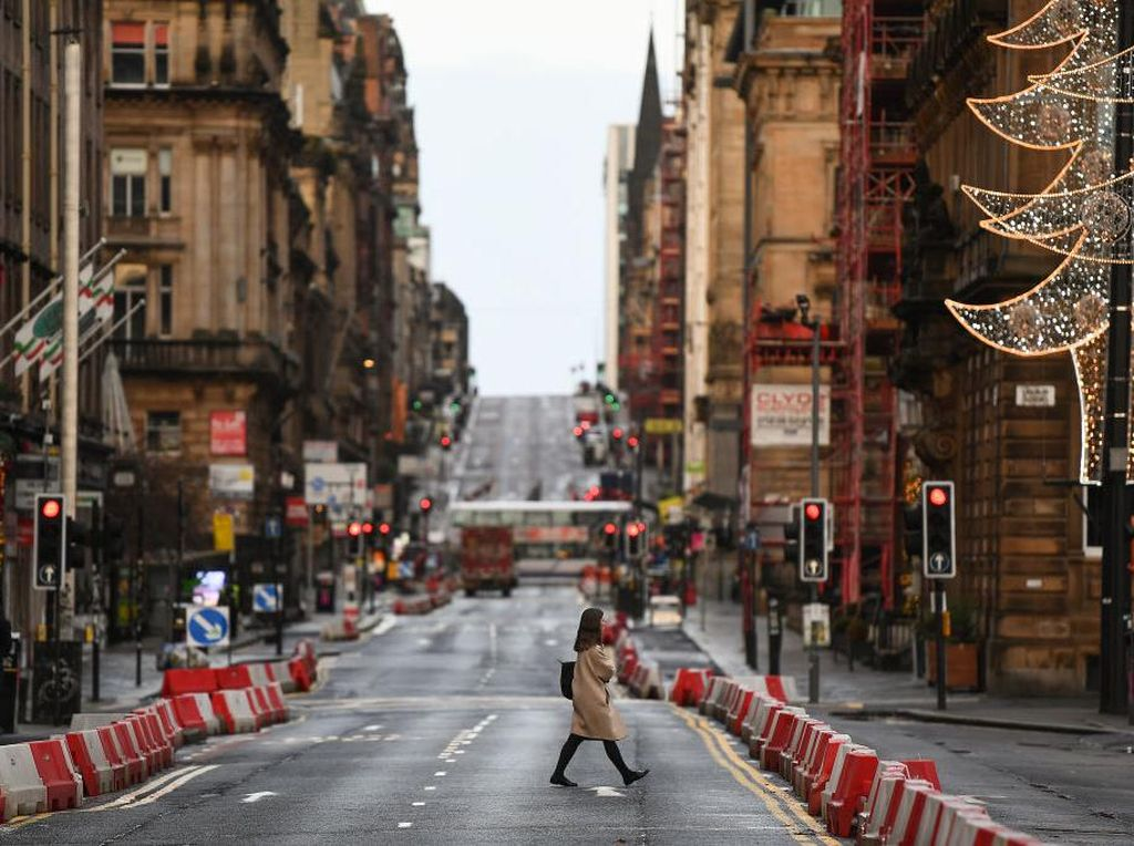 Begini Suasana Hari Pertama Lockdown Ketat di Skotlandia