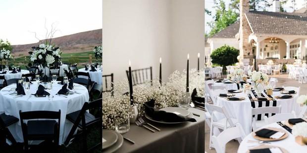 Ingin memiliki suasana yang anggun tapi simple? Kamu bisa memilih tema pernikahan classic black-white.