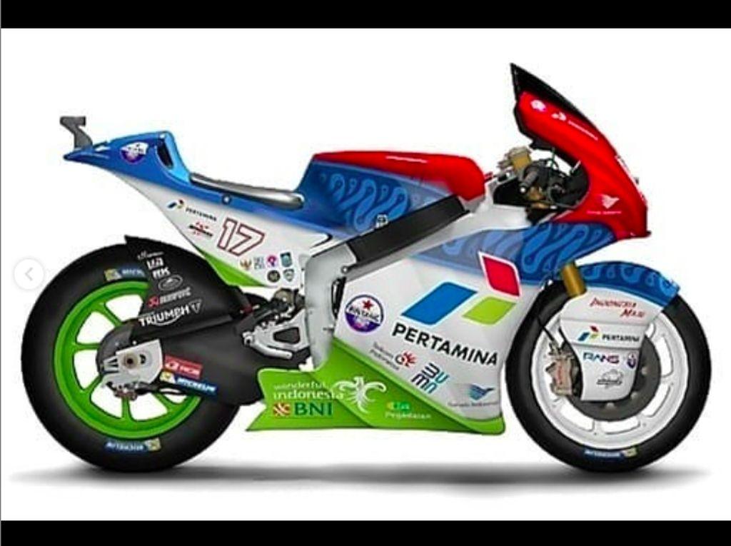 Mandalika Racing Team Pamer Desain Motor Balap, Ada Motif Batiknya