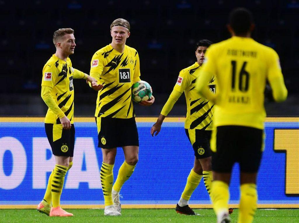 Erling Haaland Empat Gol, Dortmund Gilas Hertha Berlin 5-2