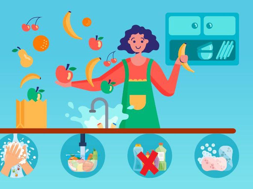 4 Cara Cuci Buah dan Sayur yang Benar Sesuai Imbauan WHO