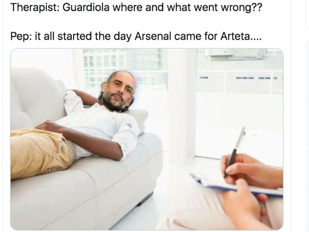 Meme City Dibabat Spurs, Mourinho dan Guardiola Jadi Lakon