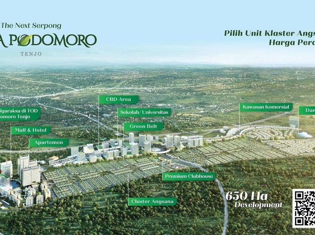 Rekor 1.500 Unit Laku Saat Pandemi, Kota Podomoro Siapkan Angsana