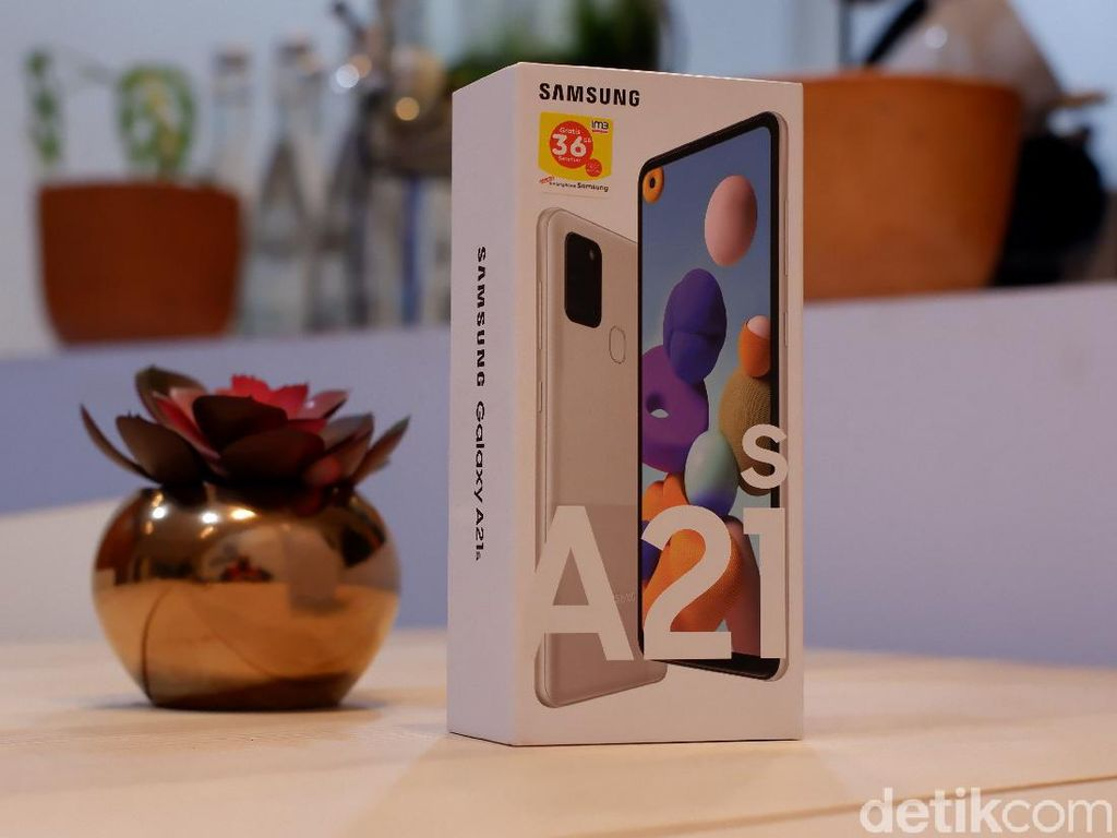 Unboxing Samsung Galaxy A21s Bawa Memori Gede Harga Rp 3 Jutaan
