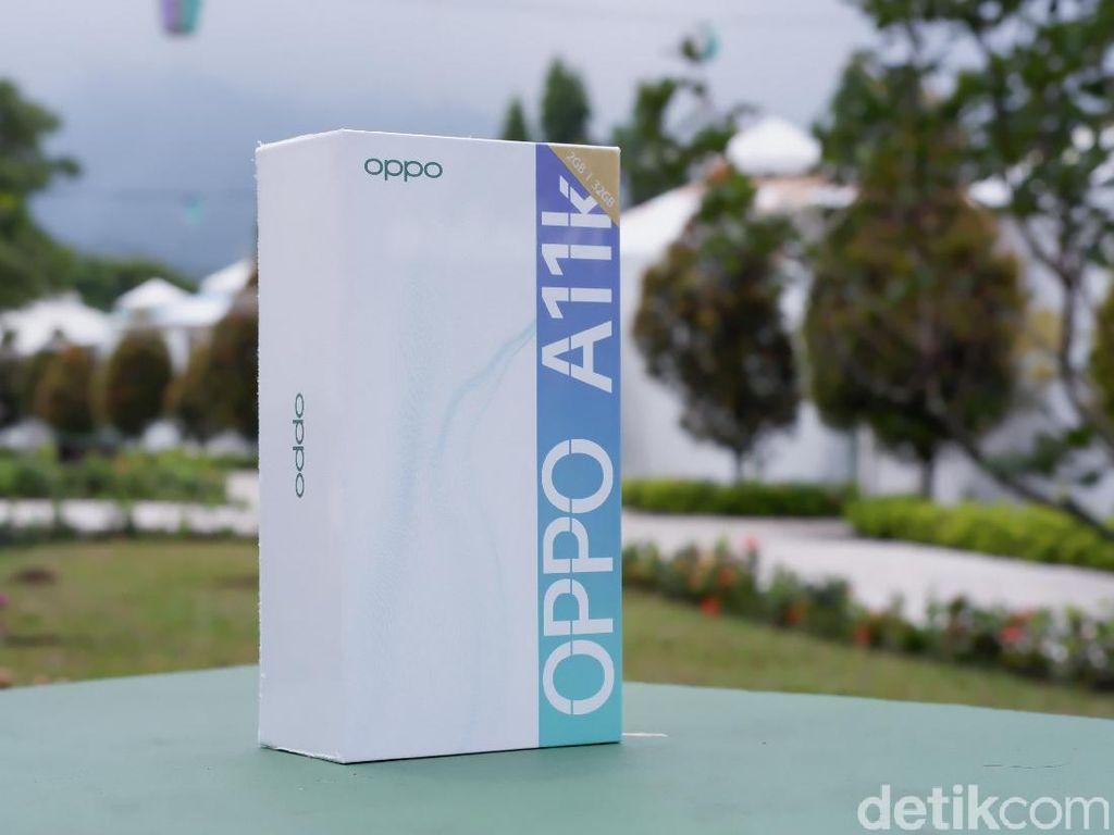 Unboxing Oppo A11k, Ponsel Entry Level Harga Rp 1 Jutaan