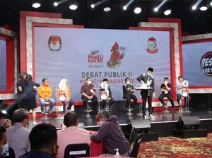Debat II Pilwalkot Makassar, Paslon Saling Sindir soal Digitalisasi Pemkot