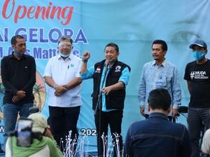 Anis Matta Resmikan Pantai Gelora di Sumbawa NTB