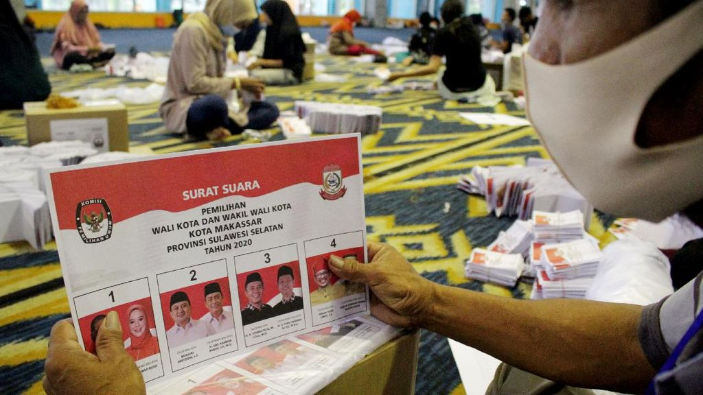 Kertas Suara Pilkada Makassar Mulai Dilipat
