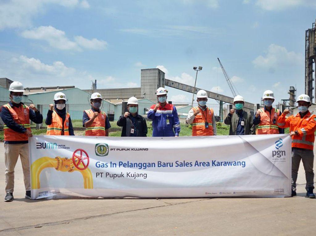PGN Salurkan Gas Perdana ke PT Pupuk Kujang Cikampek
