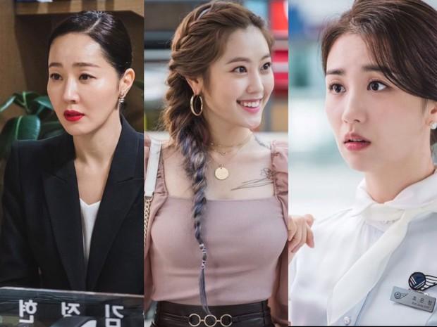 Uhm Ji Won sebagai Oh Hyun Jin (kiri), Choi Ri sebagai Lee Roo Da (tengah), Park Ha Sun sebagai Jo Eun Jung (kanan) / Foto: instagram.com/tvndrama.official
