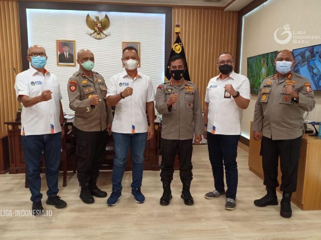Dikunjungi PT LIB, Baharkam Polri Beri Dukungan buat Shopee Liga 1