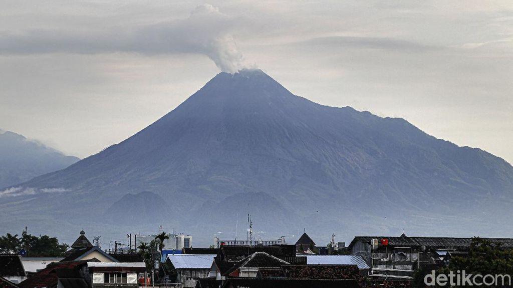 Gunung Merapi Semburkan Asap Sulfatara