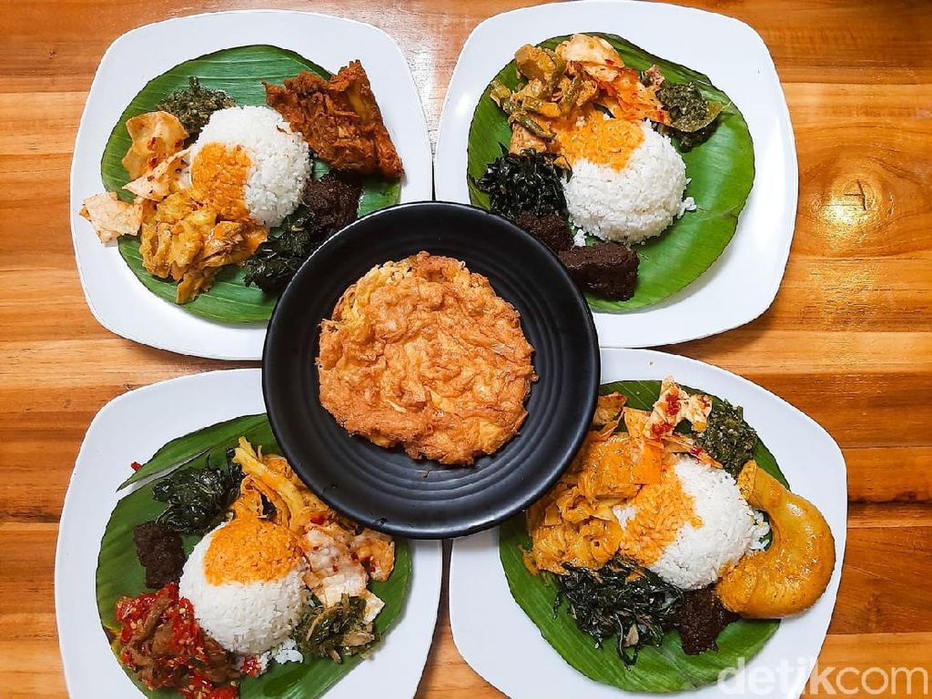 Lamaknyo! Nasi Kapau dengan Lauk Gulai Tambusu hingga Rendang