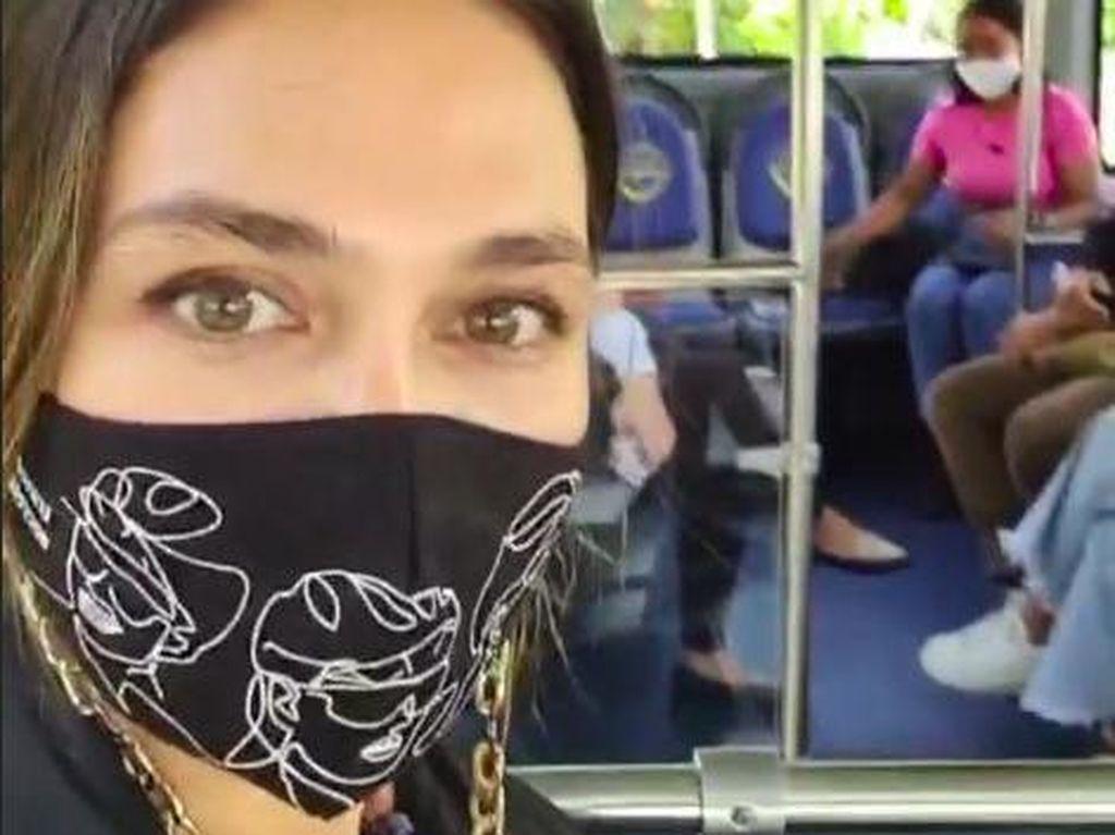 Ini Kata Luna Maya Soal Pengalaman Pertama Naik Bus di Bali