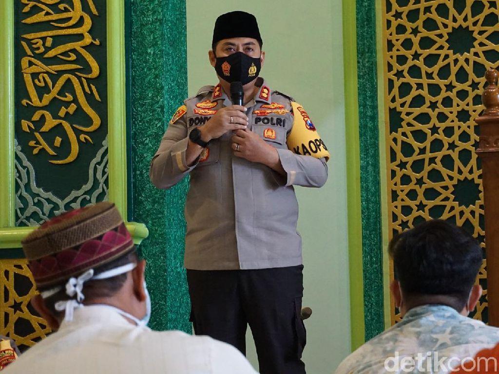 Khotbah Jumat, Bhabinkamtibmas di Mojokerto Ajak Masyarakat Jaga Persatuan