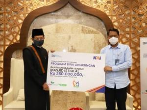 KAI Kucurkan Bantuan Senilai Rp 250 Juta untuk Masjid Istiqlal