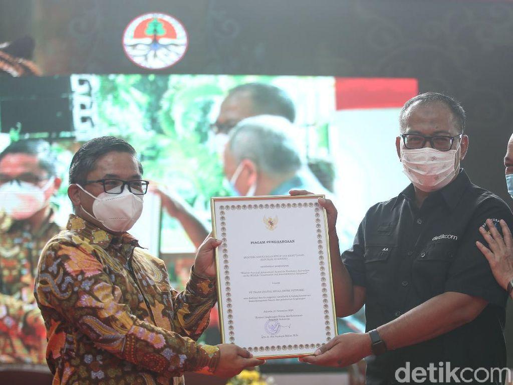 detikcom Raih Penghargaan Konservasi dari KLHK