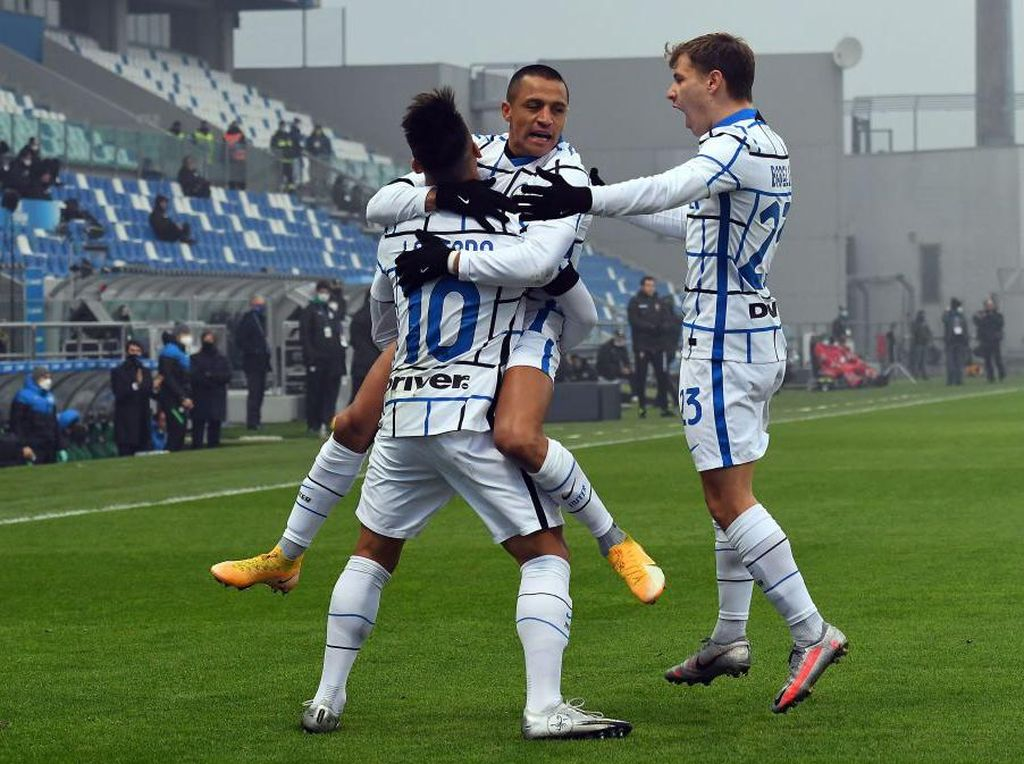 Sassuolo Vs Inter Milan: Nerazzurri Menang Telak 3-0