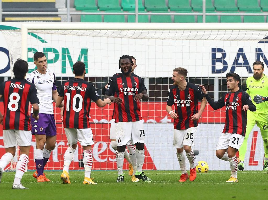 AC Milan Vs Fiorentina: Diwarnai Dua Penalti, Rossoneri Menang 2-0