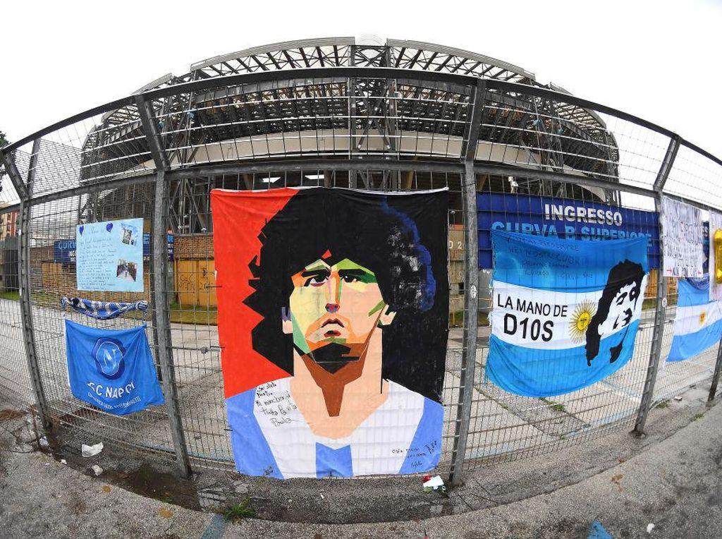 Napoli Vs Roma: Tribute untuk Maradona, Il Partenopei Jadi Argentina