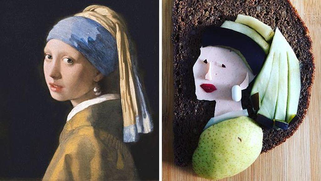 Kreatif, Kreasi Ulang Lukisan Legendaris Pakai Roti Tawar