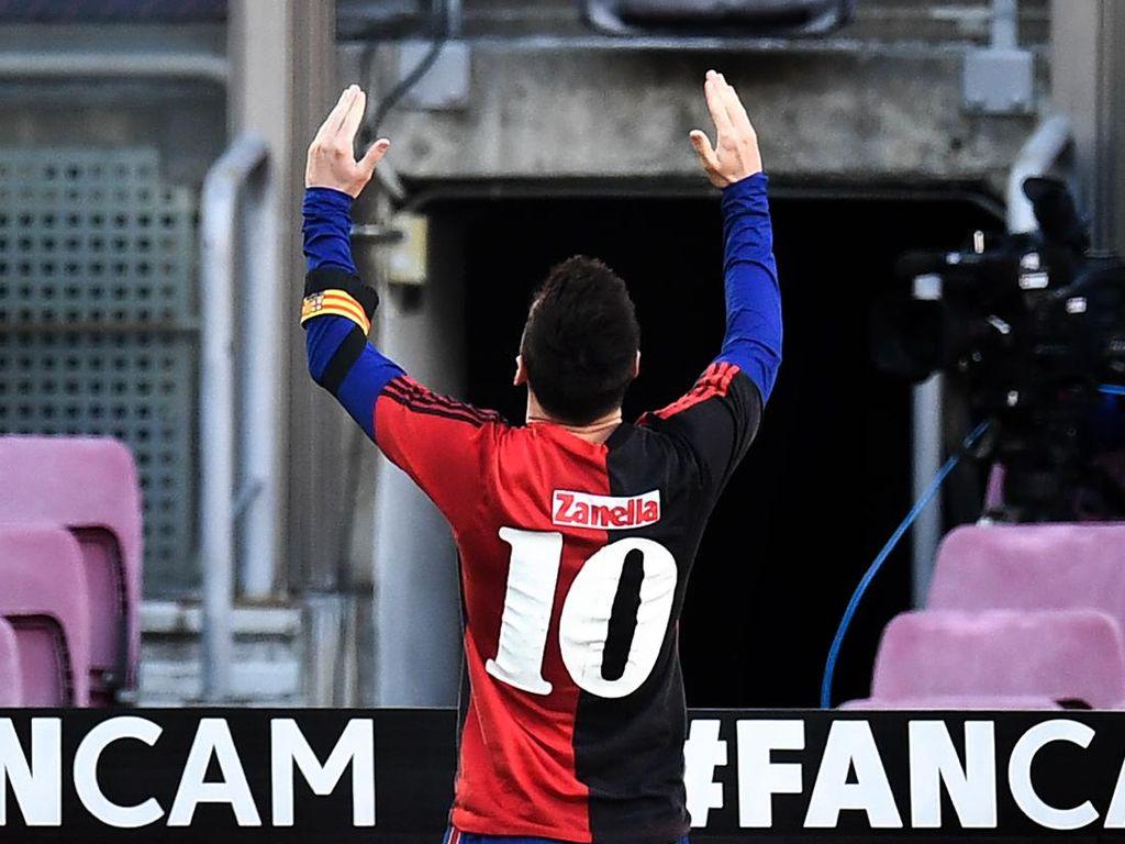 Penghormatan Messi untuk Maradona Bikin Barcelona Dihantui Sanksi