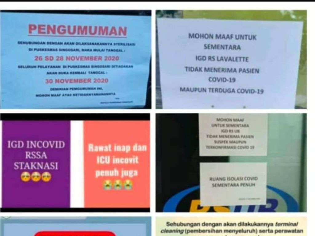 Heboh Ruang Isolasi RS Rujukan Pasien COVID-19 di Kota Malang Penuh