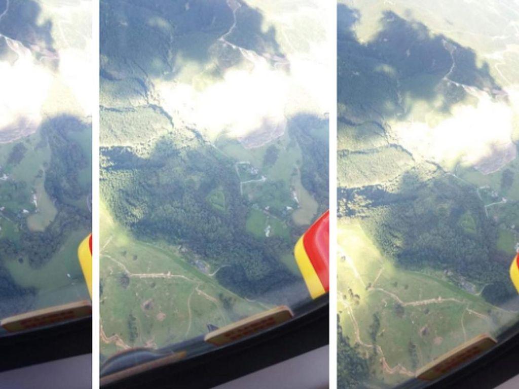 Helikopter Penyelamat Temukan Lahan Rahasia Berbentuk Hati, Bucin Banget Nih