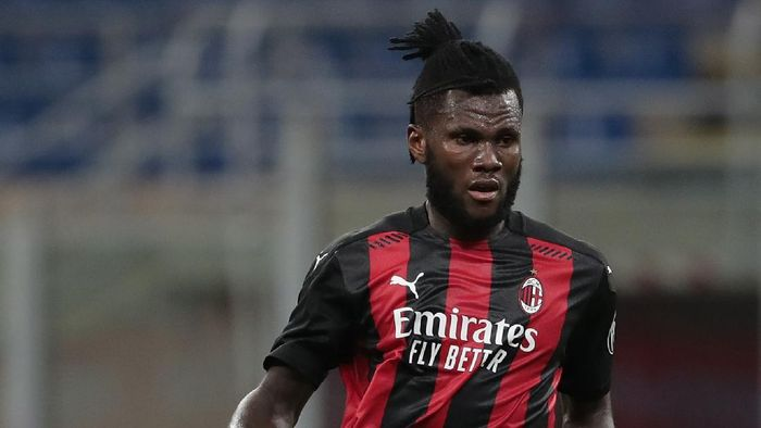 MILAN, ITALY - SEPTEMBER 24:  Frank Kessie of AC Milan in action during the UEFA Europa League third qualifying round match between AC Milan and Bodo Glimt at Stadio Giuseppe Meazza on September 24, 2020 in Milan, Italy.  (Photo by Emilio Andreoli/Getty Images)