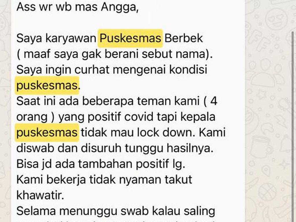 Nakes di Nganjuk Curhat ke DPRD Minta Puskesmas Berbek Lockdown