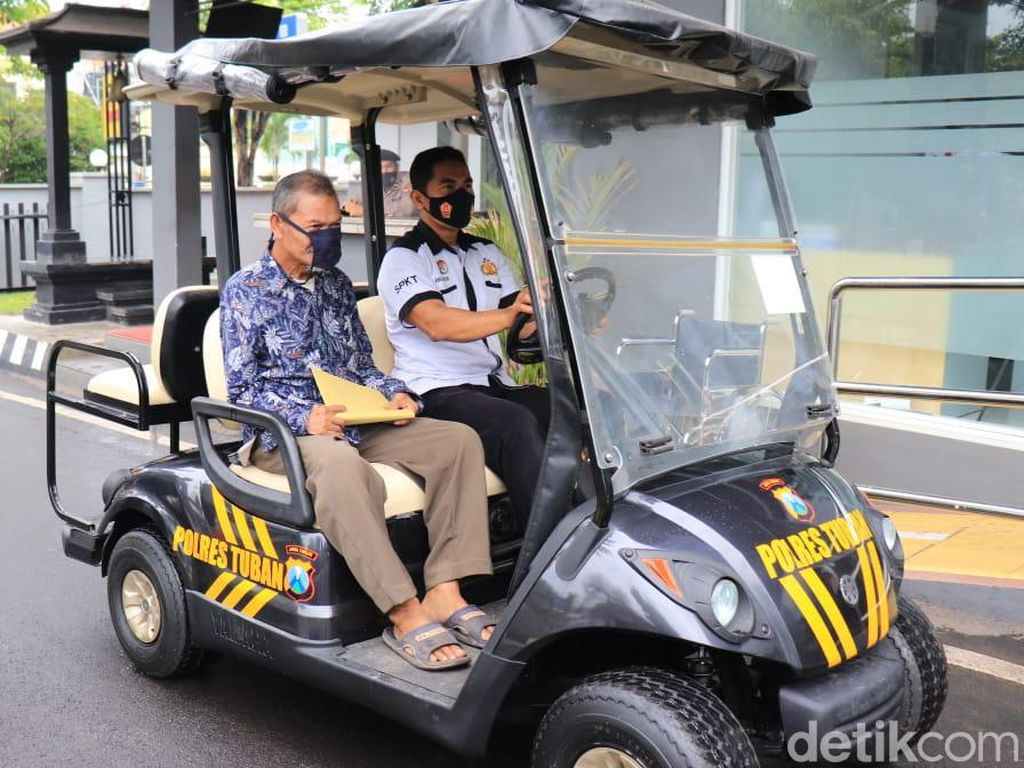 Manula hingga Penyandang Disabilitas Bisa Naik Golf Car di Mapolres Tuban