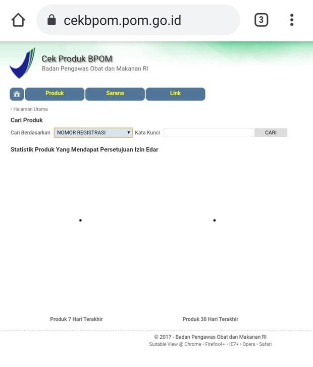 Cara mengecek produk yang terdaftar di BPOM