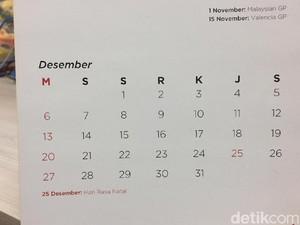 Libur Akhir Tahun dan Cuti Bersama Desember 2020 Dikurangi 3 Hari