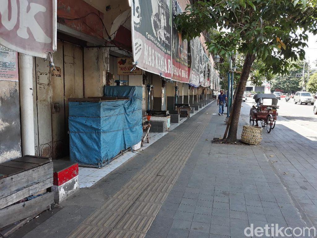 11 Pedagang Positif Corona, Pasar Gede Solo Sisi Timur Ditutup