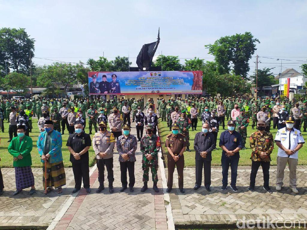 Polisi Gandeng Linmas Jaga 2.084 TPS di Pilbup Mojokerto