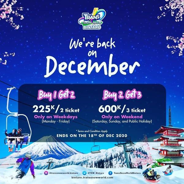 Promo Harga Tiket Trans Snow World Bintaro