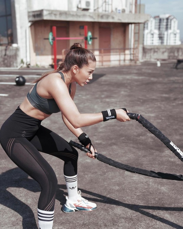 Artis Andrea Dian aktif berolahraga sebagai salah satu gaya hidupnya.