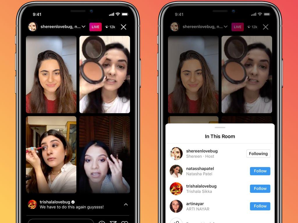 Instagram Live Rooms Hadir di Indonesia, Bisa Live Hingga 4 Orang