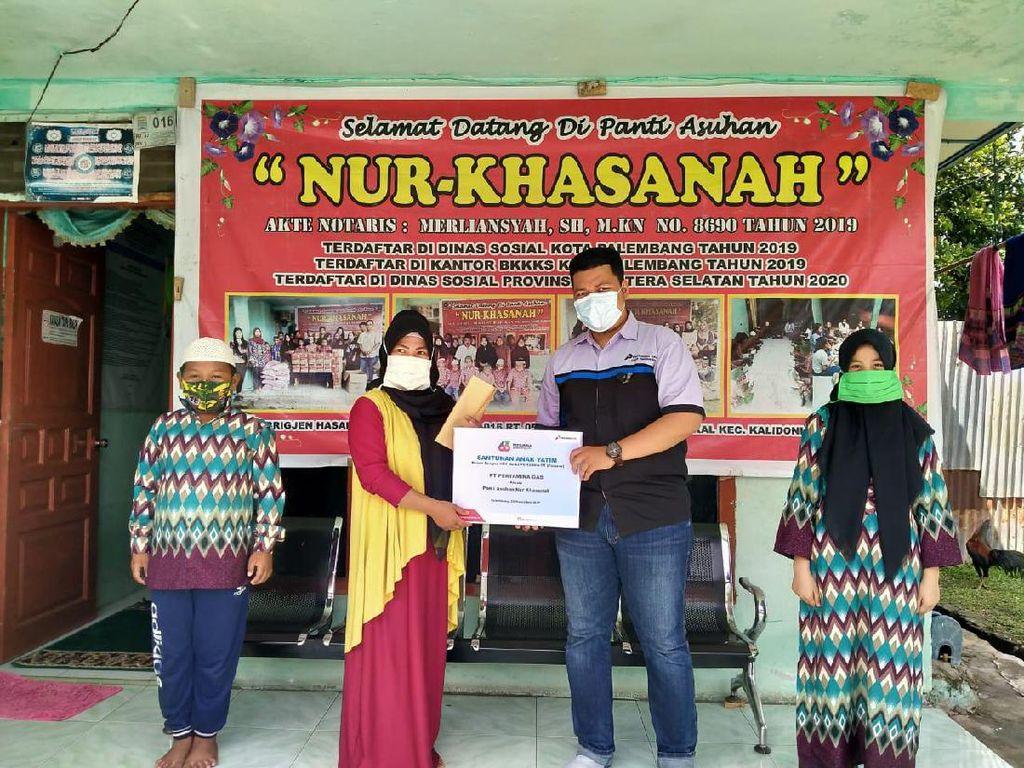 HUT Ke-63, Pertagas Santuni Anak Yatim & Kaum Duafa di Palembang