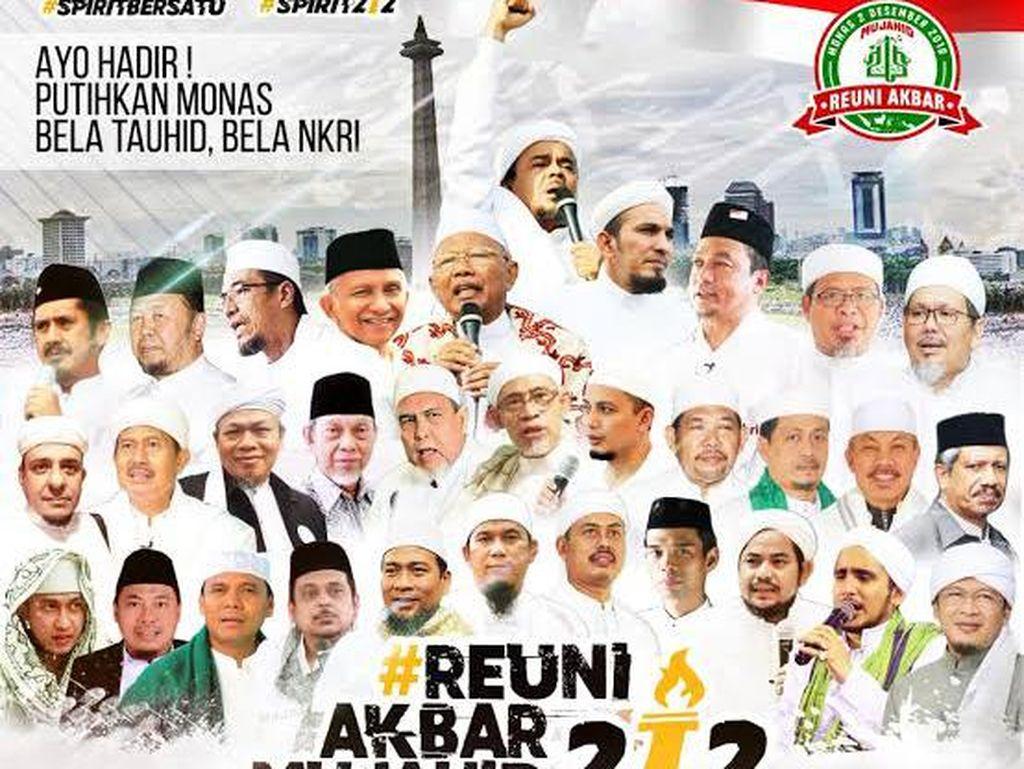 Beda Poster Reuni 212 dari Tahun ke Tahun