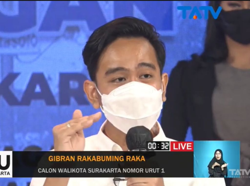Debat Pilkada Solo, Gibran Janji Longgarkan Pajak UMKM
