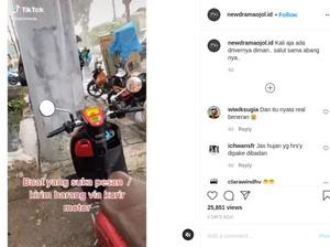 Viral Perjuangan Kurir Ojol Angkut Mesin Cuci sampai Kulkas, Kok yang Order Tega?