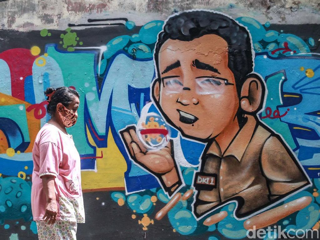 Muncul Grafiti DKI-1 Tumbang di Cikini