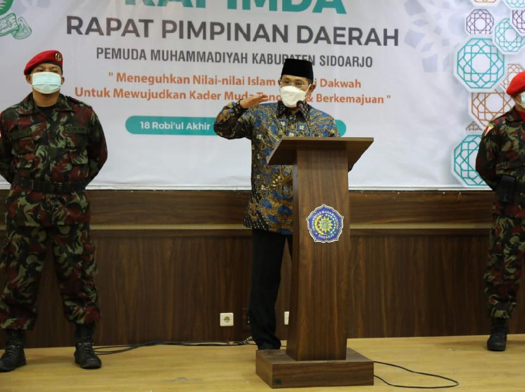 Buka Rapimda Pemuda Muhammadiyah, Ini Pesan Pj Bupati Sidoarjo