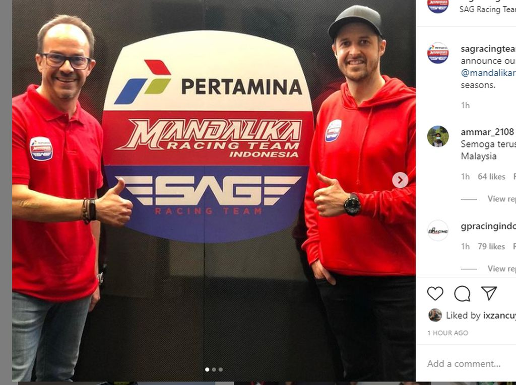 Sah! Tim MotoGP Indonesia Gandeng SAG Racing Team Tampil di Moto2 2021