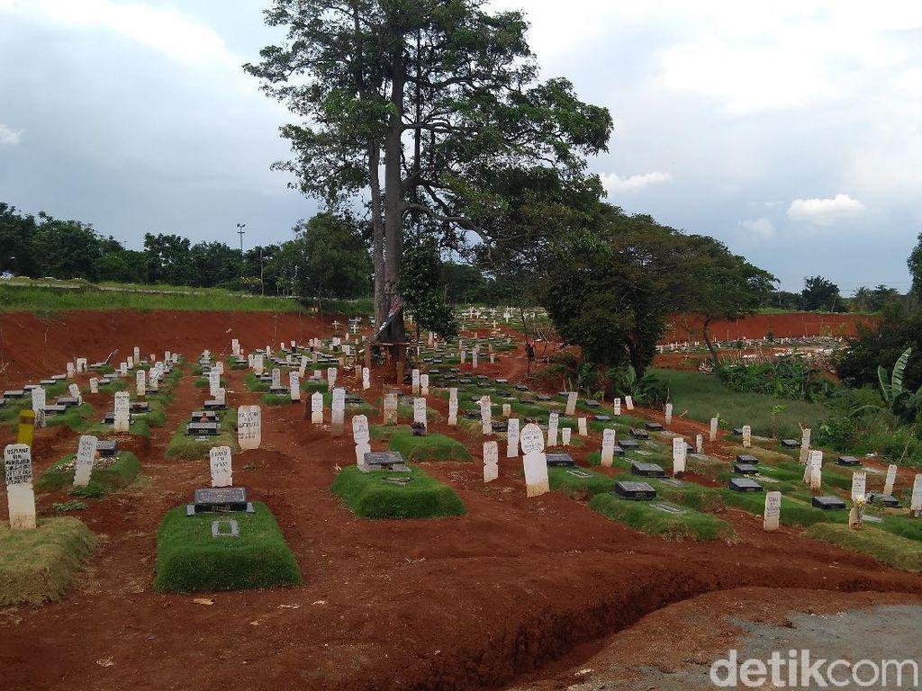 Tunggu Penurapan, TPU Pondok Ranggon Tambah 250 Makam Khusus COVID
